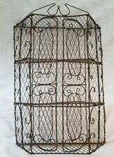 UNIQUE METAL Wall CABINET ORNATE Scrolls Design Great for Miniatures 4 Shelves