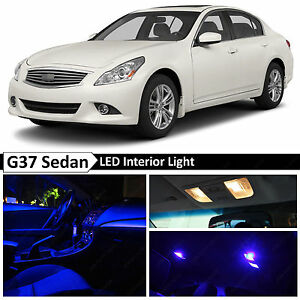13x Full Blue Interior LED Lights Bulbs Fits 2007-2014 Infinit G35 G37 Sedan