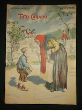 """Toto Carabo - les Beaux Contes collection """"NosLoisirs"""" - 1909/10 - grand format"""
