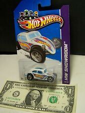 Hot Wheels White Custom Volkswagen Beetle - HW Showroom - 2012
