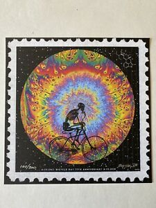 EMEK BICYCLE DAY 4/19/2018 LSD BLOTTER ART SIGNED/NUMBERED