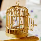 Metal Bird Cage W/ light green Bird 1/12 1:12 Dollhouse Miniature Kids Toy Gift