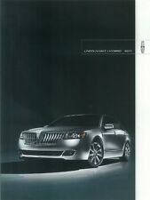 2011 Lincoln MKZ + Hybrid Sales Literature Piece Brochure Advertisement Options