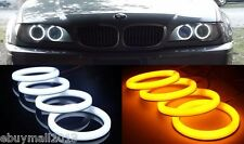 Dual Color WH&YE Cotton LED Halo Rings For BMW E46 Coupe 2D/Cabrio Angel Eyes