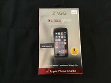 New ZAGG InvisibleShield Tempered Glass Screen Protector iPhone 5 5s 5c SE