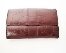 Coach Women Leather Wallet Purse Brown