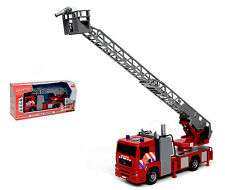 Feuerwehrauto Drehleiter Licht Sound Friktion Kinder Wasserspritzfunktion, NEU
