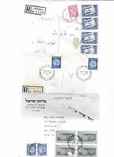 ISRAEL-6 covers-all w/ various earlier coins issues(1949-1950)