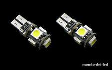 """2x lampada luci posizione t10 hyper led 5 SMD CANBUS NO-ERROR """"ROSSE"""" auto"""