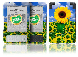 Amazon Kindle 3 Ebook Reader - Sunflower Nature Scene Vinyl Skin Sticker Cover