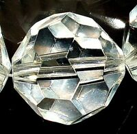 18mm Faceted White Crystal Quartz Round beads 10pcs