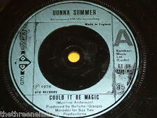 """VINYL 7"""" SINGLE - DONNA SUMMER - COULD IT BE MAGIC - GT 60"""