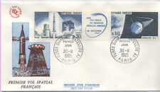 FRANCE FDC - 1464-65 1 LANCEMENT 1er SATELLITE - 30 Novembre 1965 - LUXE