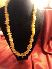 "Vintage  Egg yolk Amber beaded necklace tested. 55 grams 26 "" long"