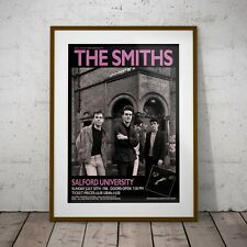 More details for the smiths salford 1986 concert three print or two frame options new exclusive