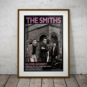 The Smiths Salford 1986 Concert Three Print or Two Frame Options NEW Exclusive