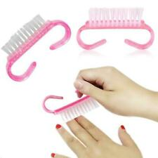 Plastic Handle Nail Dust Clean Cleaning Brush Manicure Pedicure File Tool