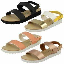Girls Spot On Strap Detail Sandals