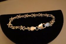 "Pretty ""Bar and Xes"" Chain Sterling Silver Bracelet – 7 ½"""
