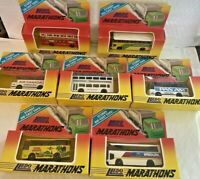 7 x Lledo Marathons model toy die cast buses and coaches job lot - boxed