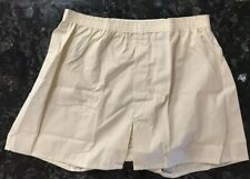 Vintage 70s Boxer Shorts NOS Tan Cotton Fortrel Polyester Blend Sz XL 42-44 USA