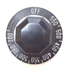 Robertshaw Control Knob  Z873000-100   200 - 550 F  BLACK  (Pack of 5)