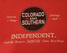 Ringaboy Mens T-Shirt Colorado Southern Railroad. New With Tags Size L