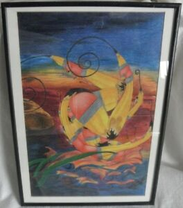 surrealism painting signed