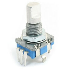 20-point shaft Detents encoder and 360 degree rotary with push button Blue F7T6