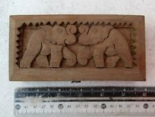 NiCe!  Lisu Hill Tribe Teak Opium Scale Elephant Design & 6 Elephant Weights