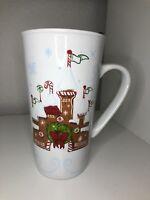 Disney Starbucks  Collectible Christmas Ceramic Mug Rare New Gingerbread Castle