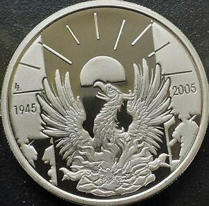 Belgium 10 euro 2005, silver proof, 60th Anniversary of Liberation