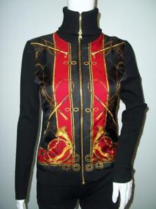 Ralph Lauren Equestrian Silk Wool Full Zip Womens Sweater Jacket Size PS