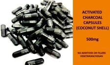 Activated Charcoal Capsules 500mg (Coconut Shell) Detox | Toxins Bloating