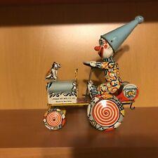 UNIQUE ART Tin Wind-up ARTIE the Clown Car Toy !!!  NO RESERVE !!!