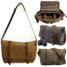 Men's Waterproof Canvas Briefcase Messenger Shoulder  Camera Bag Padded