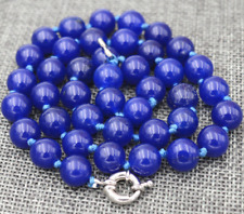 """New 10mm Blue Sapphire Round Necklace 18"""""""