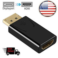 Displayport to HDMI Female Adapter 1080P DP to HDMI Converter Video Port to HDMI