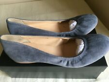 J CREW SUEDE CECE SOLID BALLET FLAT VINTAGE PEWTER 46198 FLATS SIZE 8 ITALY NIB