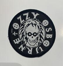 Vintage OZZY OSBOURNE 1995 Ozzmosis  patch Black Sabbath Round Skull