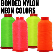 NEON COLORS BONDED NYLON THREAD #69 UPHOLSTERY CANVAS LEATHER 1650YD CONES TEX70