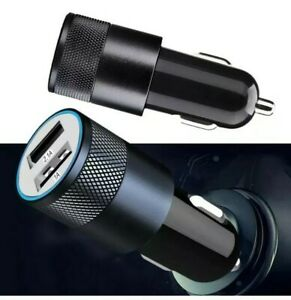 UNIVERSAL SLIM LED USB FAST CAR CHARGER CIGERETTE LIGHTER ADAPTOR black