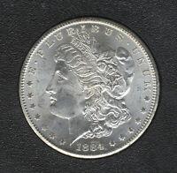 1884-CC Morgan Dollar $1 GSA HOARD MS 63 NGC w/Orig. Box, COA, & Govt. Receipt
