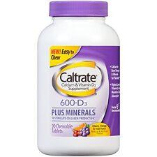 Caltrate for Bone & Colon Health 600+D Minerals Calcium Supplement 90 Tab