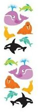 Mrs. Grossman's Stickers - Chubby Sea Mammals - Dolphin, Whale Others - 4 Strips