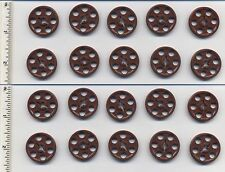 LEGO x 20 Reddish Brown Technic Wedge Belt Wheel (Pulley) Mindstorms 4185
