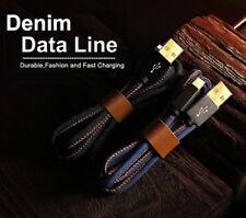 Cable Recubierto en Cuero de Carga Rápida Para Iphone X 8 7 Plus 6 6S 5S 5