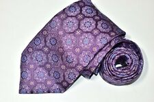 Men's Canali Purple Silk Neck Tie made in Italy