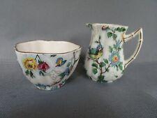 Vintage Royal Tudor Ware Barker Bros. Bird Flower Chintz Creamer & Sugar England