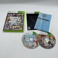 Grand Theft Auto V (GTA 5) (Microsoft Xbox 360, 2013) Complete W/map & Manual